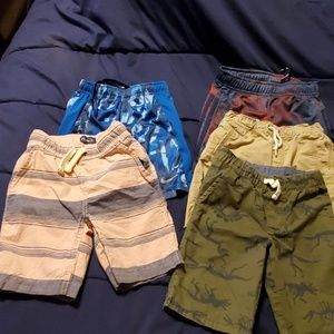 Lot of 5 boys shorts all size 5 all EUC